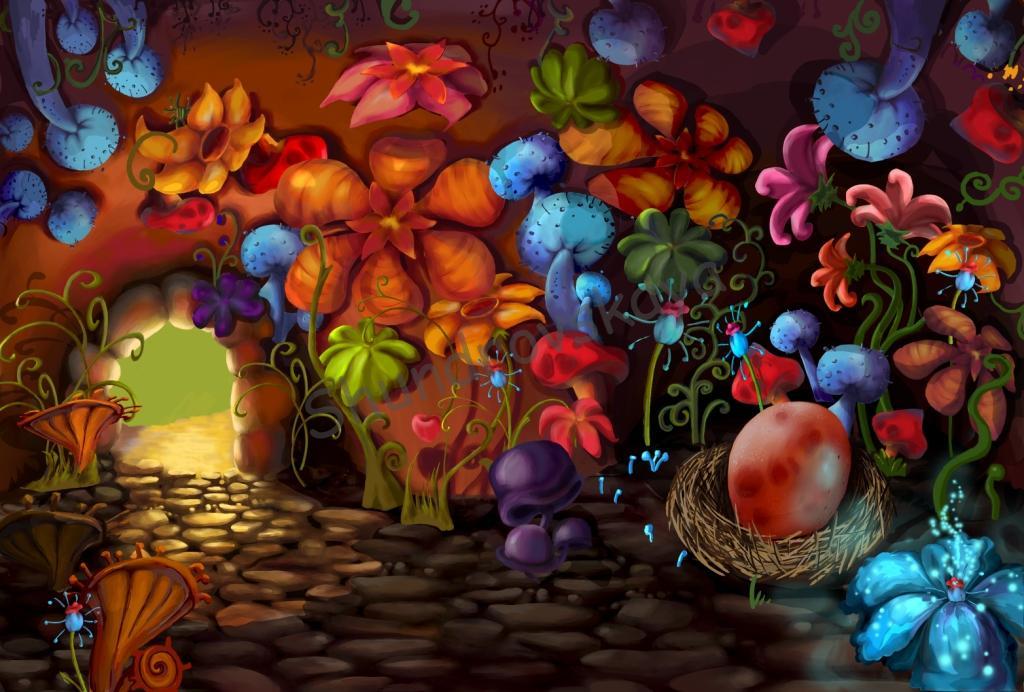 bg logovo 005 4 pecsera Пещера дракона художник фон рисунок пещера Ольга Шундровская мультики компьютерная графика иллюстрация background