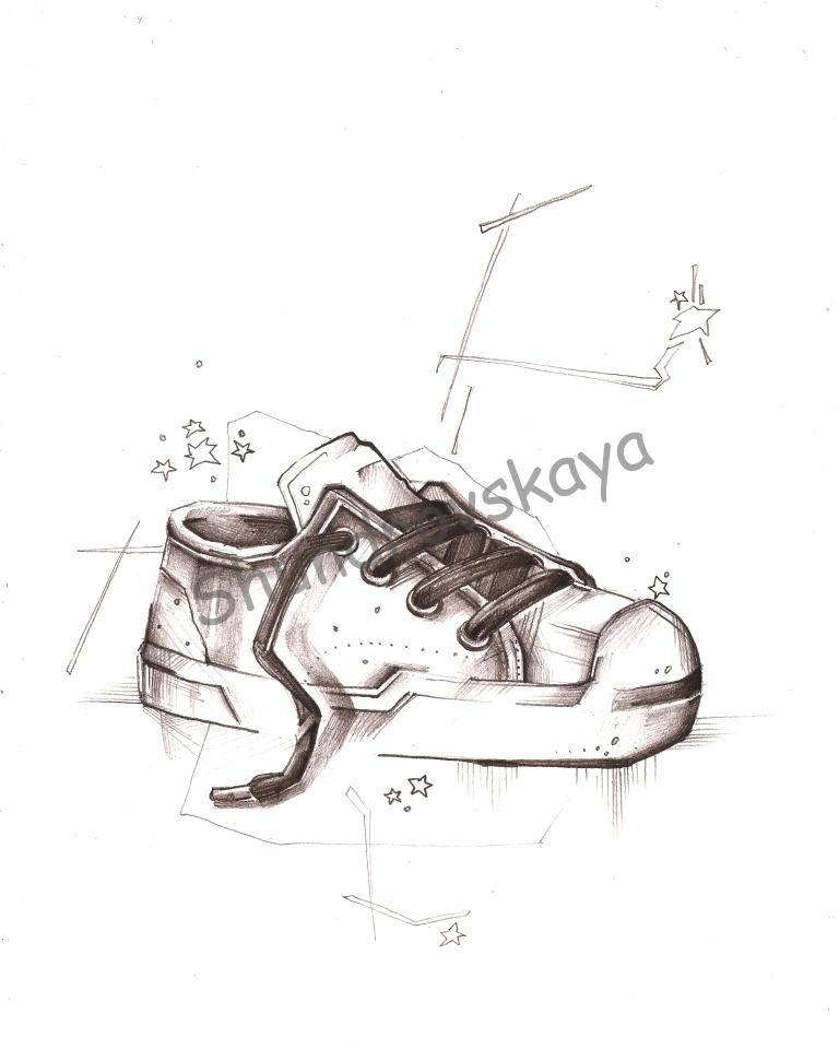 krossovokm Кроссовок шундровская художник скетч рисунок Ольга Шундровская ольга настроение наброски мультики кроссы кроссовок карандаш иллюстрация зарисовки дизайн детство быстрые рисунки brand