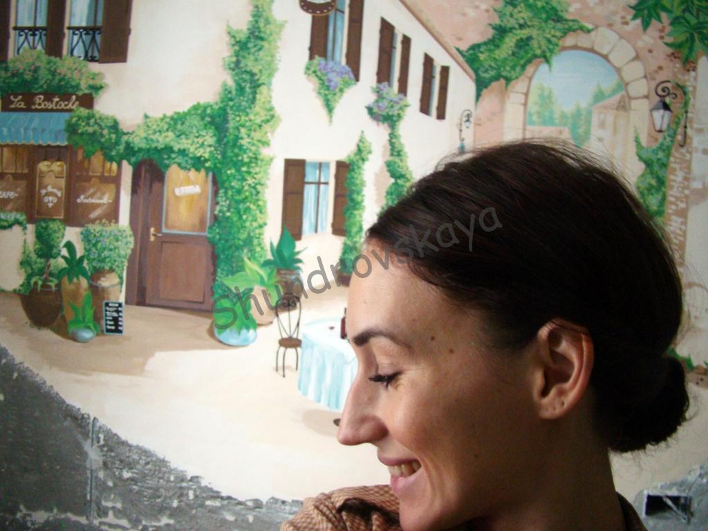 ya istenaParizz Уютная улочка Парижа французские булочки Франция улочка стена роспись стен роспись рисунок ресторан Париж меню лето кухня интерьер идеи интерьера зелень дизайн декор стен декор виноград вино арт wallart wall design cafe artwall